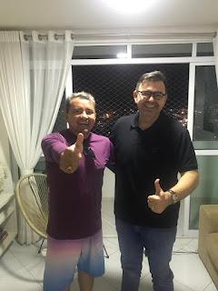 Raniery Paulino recebe em Guarabira a confirmação de apoio do Radialista e humorista Dr. Padrak