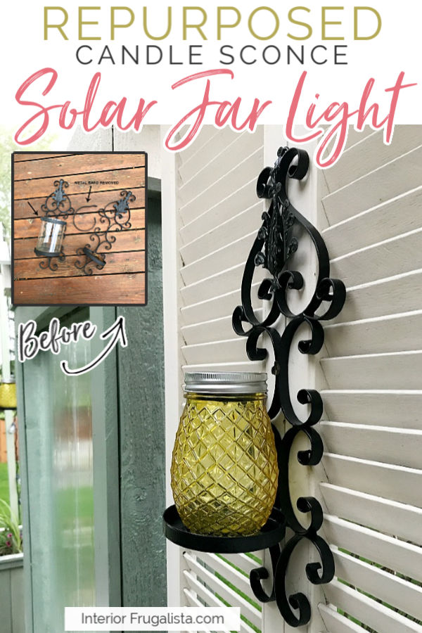 Repurposed Outdoor Sconce Solar Jar Lights