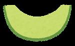 フルーツのマーク(カットメロン)