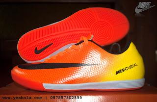 Sepatu Futsal Nike Vapor Merkurial Orange