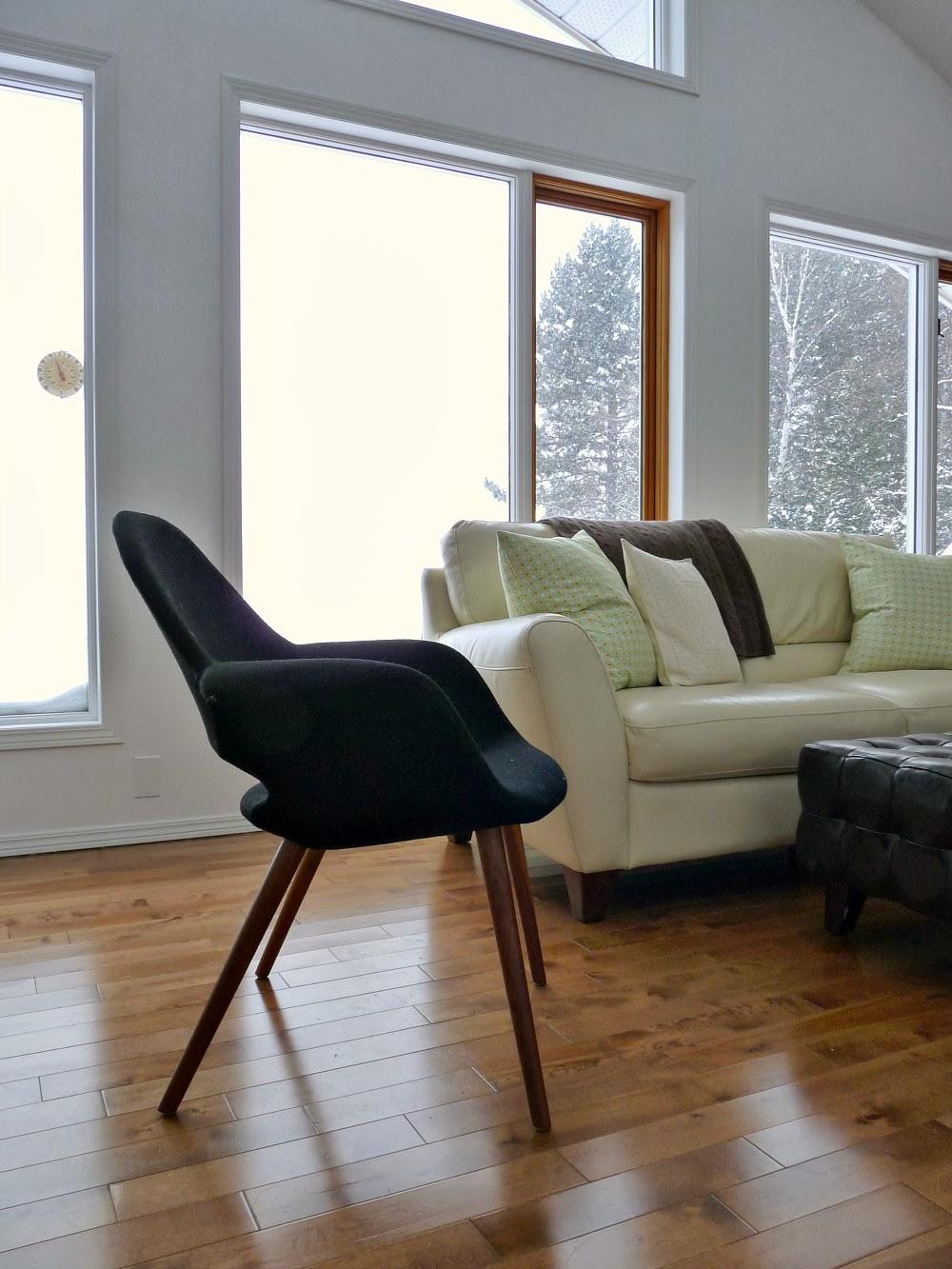 Black Wool Organic Chair from The Modern Shop, Ottawa