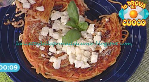Prova del cuoco - Ingredienti e procedimento della ricetta Frittata di spaghetti alla sorrentina di Ivano Ricchebono