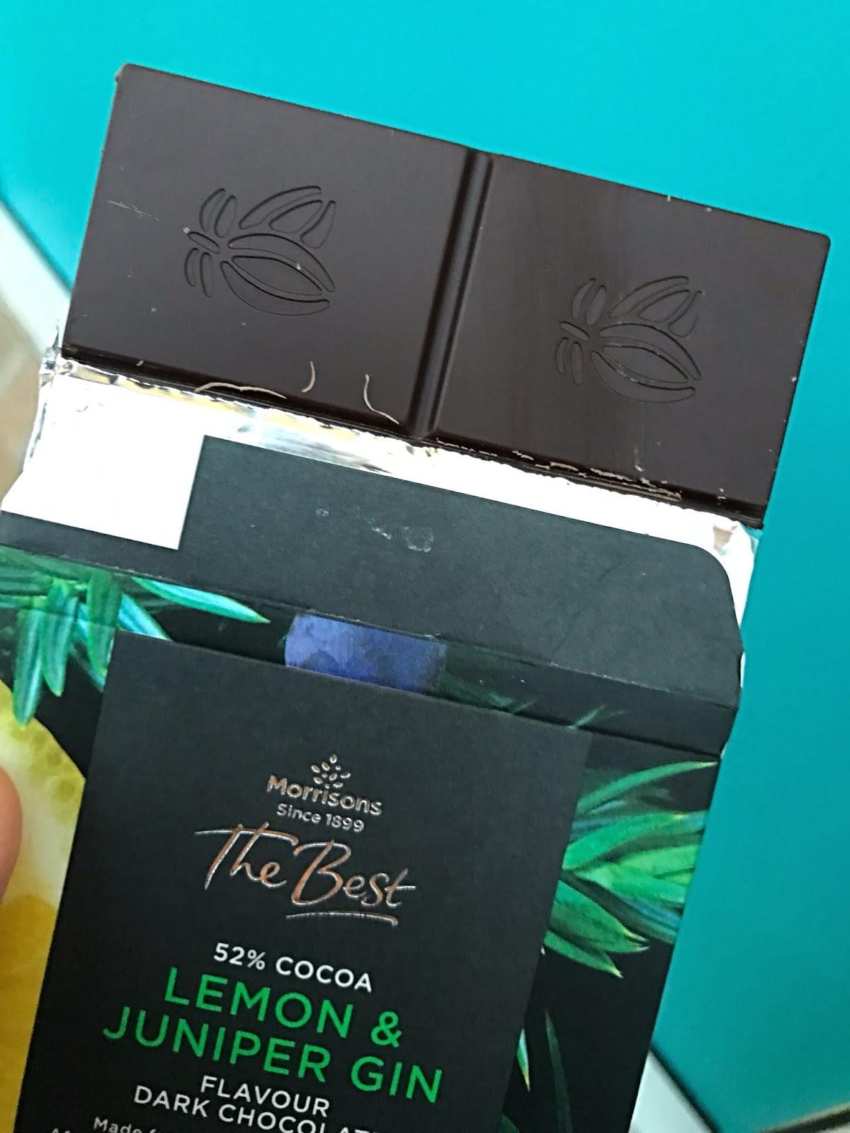 Morrisons The Best Lemon Juniper Gin Dark Chocolate