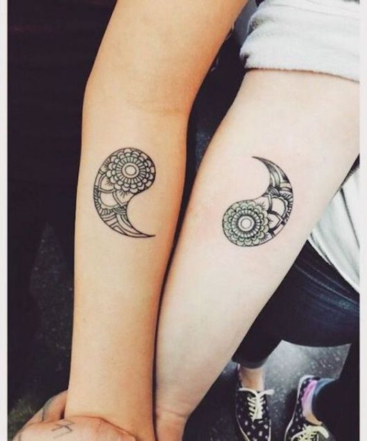 Yin Yang Tattoo Sleeve girl and boy