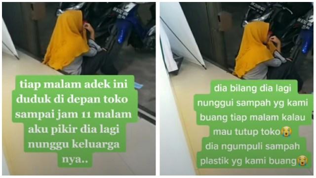 Bikin Pilu, Anak Perempuan ini Cari Sampah Plastik Hingga Larut Malam