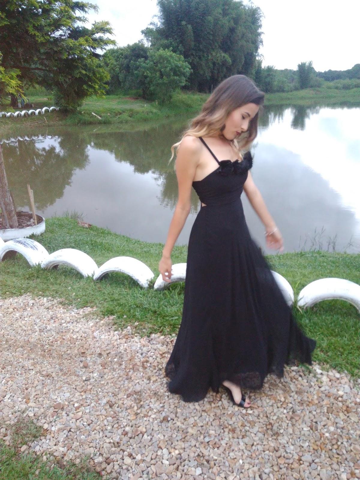 Look vestido preto convidada de casamento