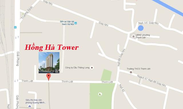 Vị trí chung cư Hồng Hà Tower