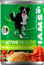 Picture of Iams Proactive Health Adult Ground Dinner with Turkey and Rice Canned Dog Food