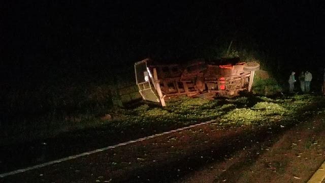 Aristóbulo del Valle : Camión  Protagoniza Accidente en Ruta Nacional N° 14