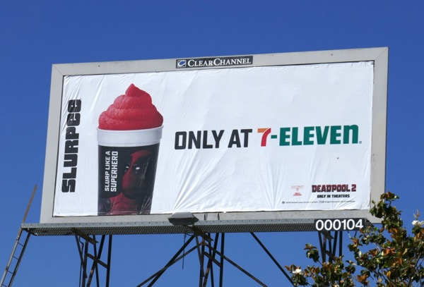 Deadpool 2 Slurpee 7-Eleven billboard