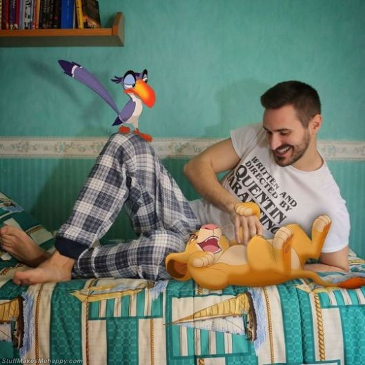 He Embodies The Disney Characters In His Daily Life With Humor