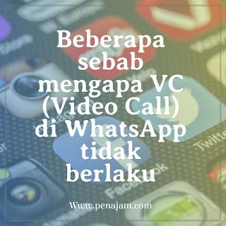 Penyebab VC (Video Call) di WhatsApp tidak dapat dilakukan