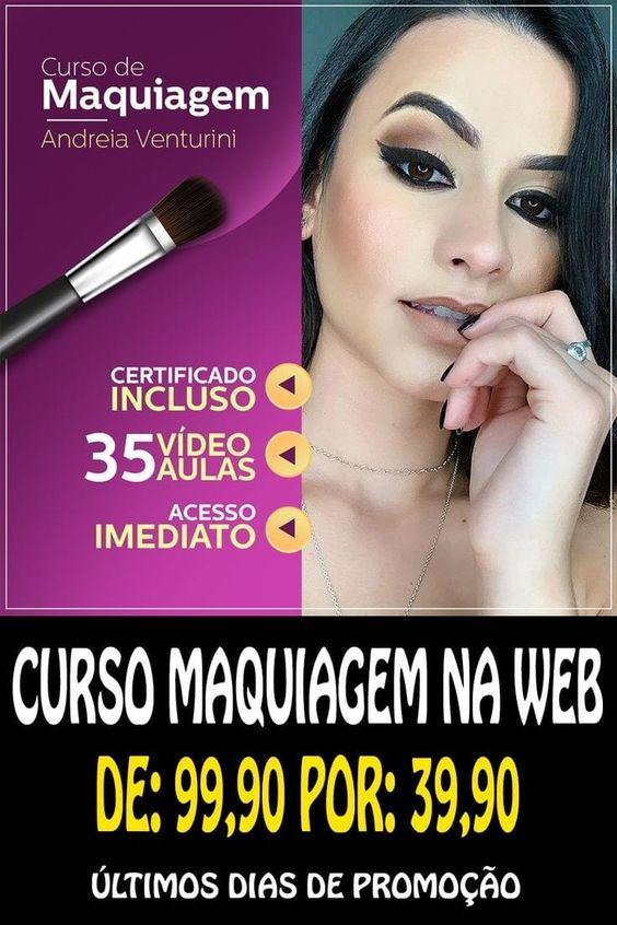 Curso Maquiagem na web Andreia Venturini