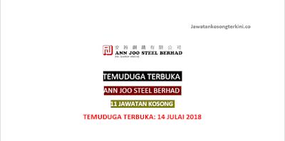 Temuduga Terbuka Ann Joo Steel Berhad 2018