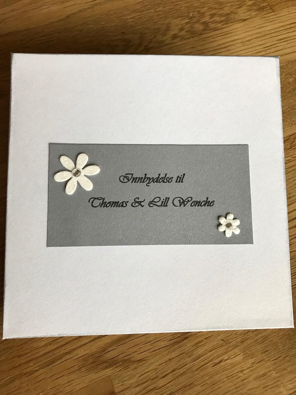 bryllup innbydelse
