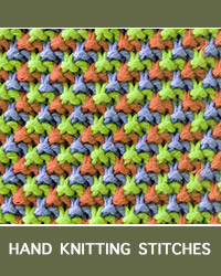 Learn Triple L Tweed Slip Stitch Pattern with our easy to follow instructions at HandKnittingStitches.com