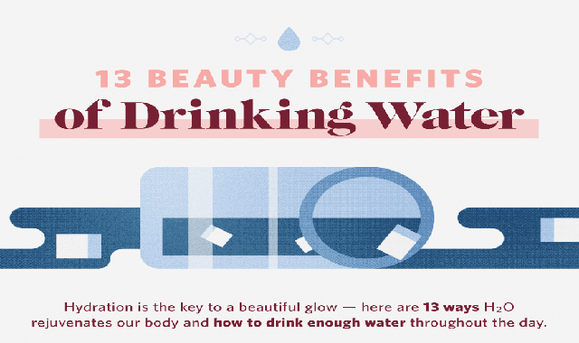13 Beauty Benefits of Drinking Water #infographic