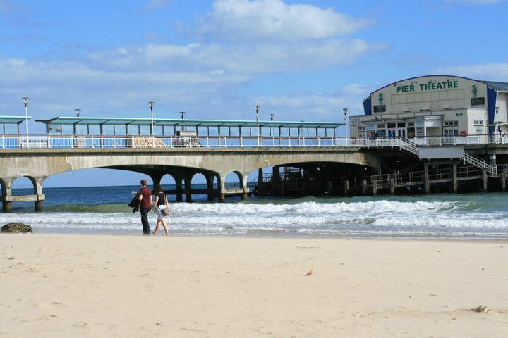 Bournemouth pier and promenade