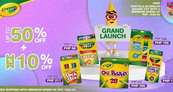 Crayola's Grand Launch on Shopee