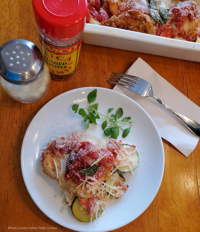 this is a zucchini chicken tomato casserole