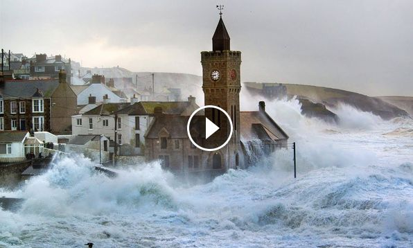 Hurricane Ophelia RIPS Through Ireland Footage PART 3
