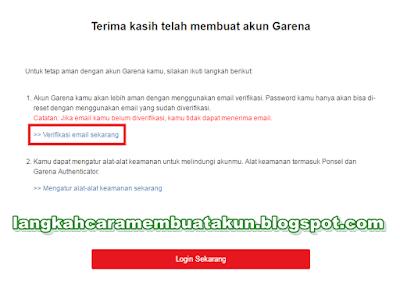 Garena Indonesia Buat Akun Full Verifikasi (5 menit selesai)