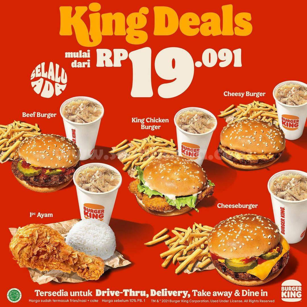 Promo BURGER KING Terbaru KING DEALS - Harga Spesial Paket mulai Rp 19.091