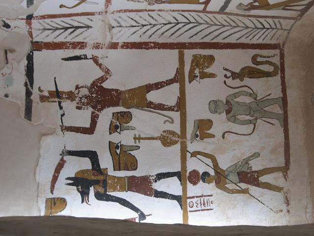 Paintings from the tomb of Sadosiris at Muzawaka (XX)