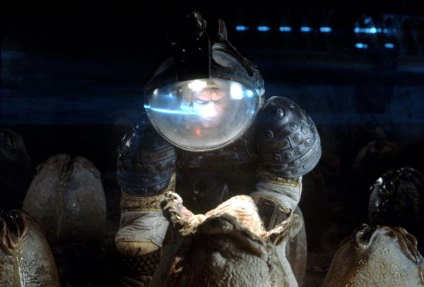 John Hurt as Kane with egg in Alien