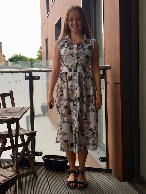 Diary of a Chain Stitcher: Liberty Silk Crepe de Chine M6696 Shirtdress from The Fabric Store