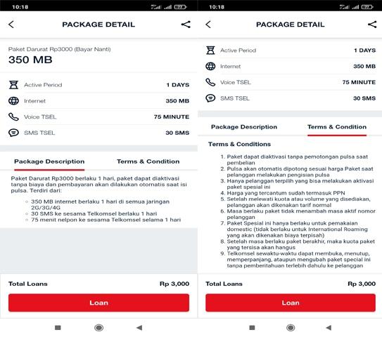 Promo Paket Darurat Telkomsel Rp 3000