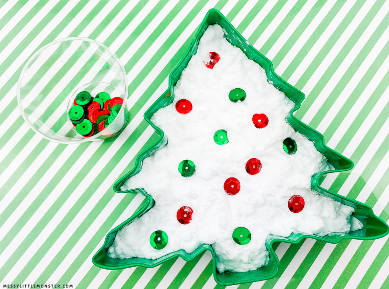 Christmas baking soda experiment