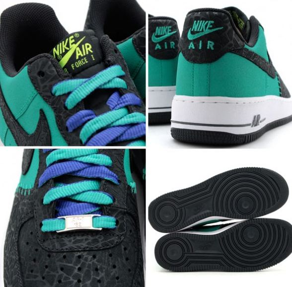 """the latest 44469 cd847 Here is a look via Atmos at the Nike Air Force 1 LE """"Godzilla Pack""""Atomic  Teal Anthracite Sneakerreleasing 22013 , will you be picking these up"""