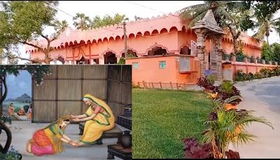 पतिव्रत धर्म पर चर्चा करती सती अनुसूया और सीता जी