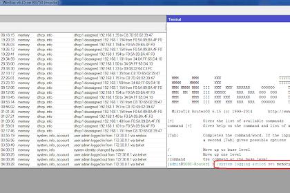 Menghilangkan Log di Mikrotik via Winbox