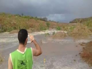 Em Picuí-PB, açude da Caraibeira começa a receber água