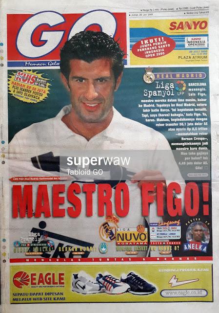 LUIS FIGO OF REAL MADRID THE MAESTRO