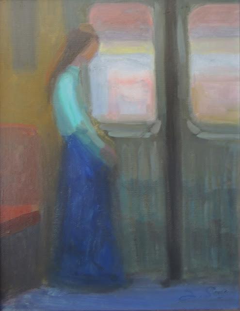 obra de arte impresionista mujer pintor aragonés Jesús Sus