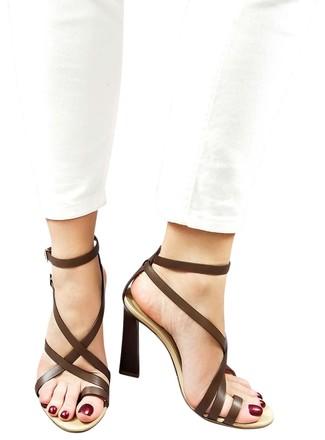 f5c855ae820f3 Dsq2 Genuine Leather Strappy Toe-ring Dress High Heels Sandals