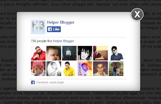 WordPress Style Facebook Popup For Blogger | Helper Blogger