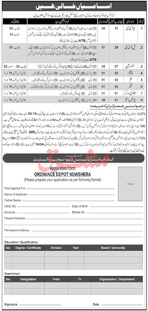 Pakistan Army Ordnance Depot Jobs 2020