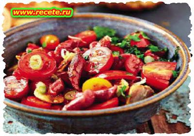 Tomato & salami salad