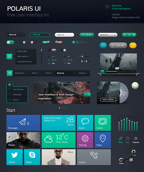 20 Timesaving Web Design UI Freebies