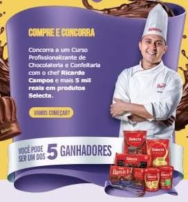 Cadastrar Promoção Selecta Chocolates Páscoa 2018 Prêmios Participar