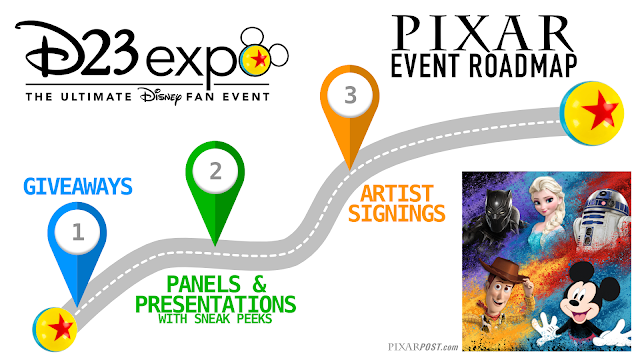 2019 D23 Expo Pixar Event Roadmap