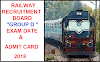 Railway Group D Exam Date and  Admit Card CEN 02/2018 Notice