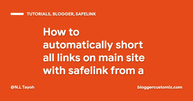 How to automatically short all links on main site with safelink from a subdomain