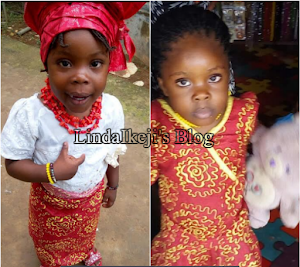 Little, 3 year old girl who was abducted by her Mom apprentice in Lagos month ago found in Abia