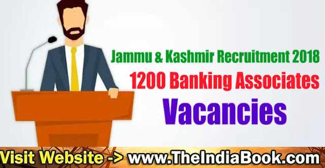JK Bank Recruitment For 1200 Banking Associate & PO Posts 2018
