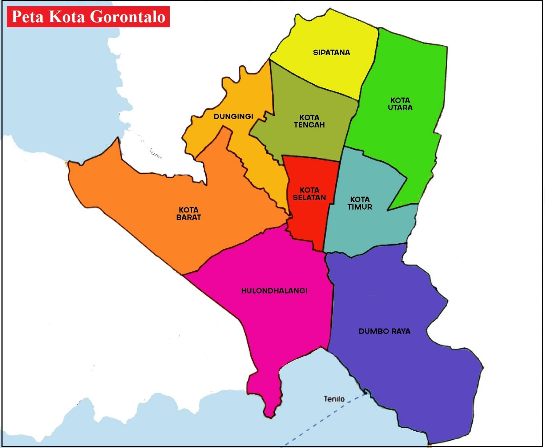 Peta Kota Gorontalo